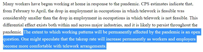 Bureau of Labor and Statistics speculate that remote work will continue beyond the pandemic