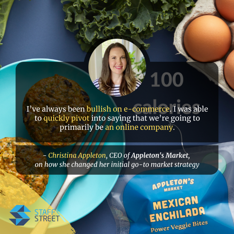Christina Appleton, the CEO of Appleton's Market discusses how easy it was to pivot to the onlin platform, having it ready and in use since day 1.