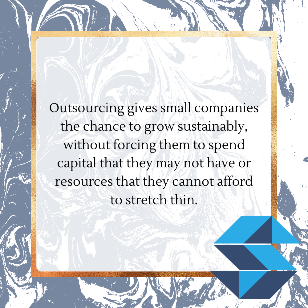 Quote: Outsourcing enables sustainable growth.